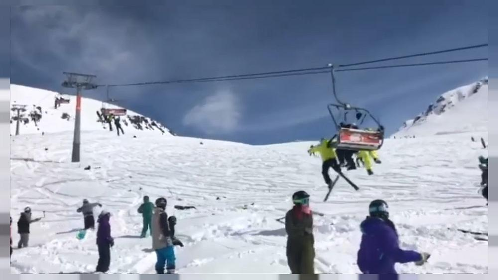 chair lift accident metal folding chairs walmart chairlift rollercoaster as 12 hurt in georgian resort