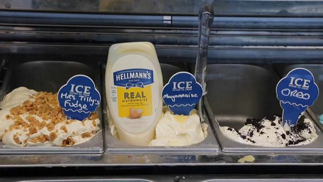 Scottish ice-cream parlour raises eyebrows with their new mayonnaise flavour