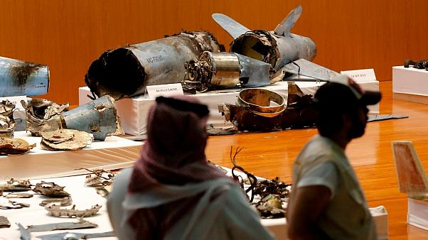 بقایای موشکهای استفاده شده در حمله به تأسیسات نفتی آرامکو عربستان