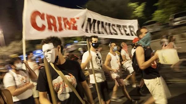 تصویری از مخالفان نتانیاهو در اورشلیم. اوت ۲۰۲۰