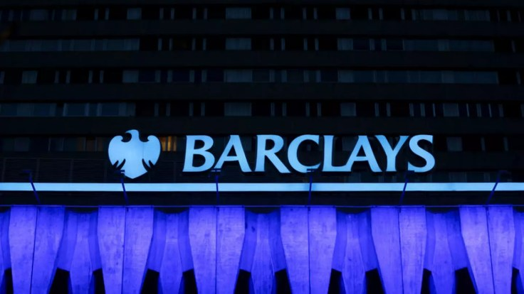 Image result for The logo of Barclays is seen on the top of one of its branch in Madrid, Spain in this March 22, 2016 file photo. REUTERS/Sergio Perez/Files