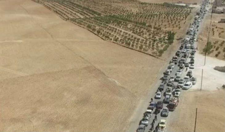 Les Forces Kurdes ont diffusé des photos de la fuite des terroristes de l'EI avec des civils pris en otage