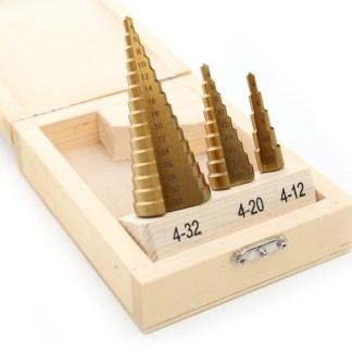 Stepenasta svrdla 4-32mm 3 kom
