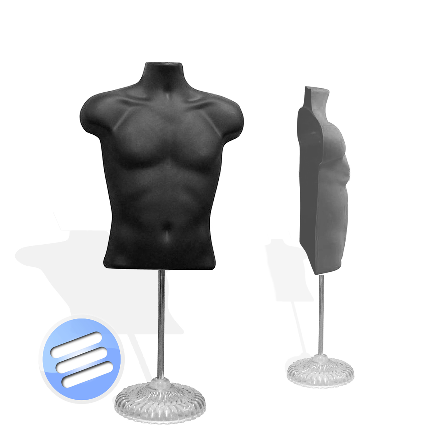 back of chair mannequin stand cushions cheap half male body form torso dummy display bust wth