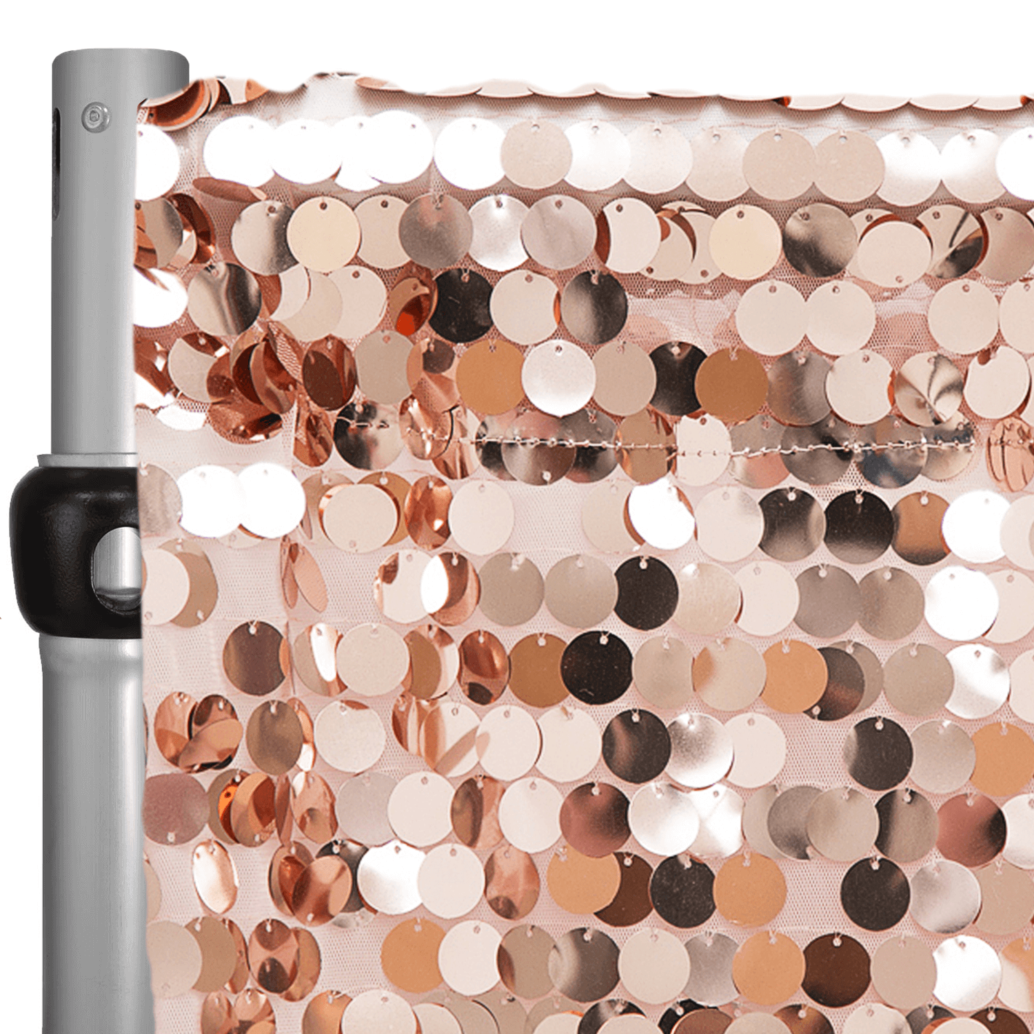 blush rose gold payette sequin backdrop curtain w 4 rod pocket by eastern mills 10ft long x 4 5ft wide