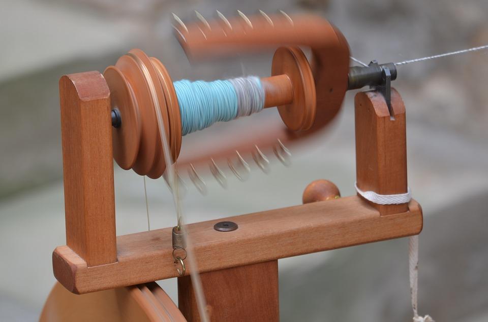craft, spin, spinning wheel