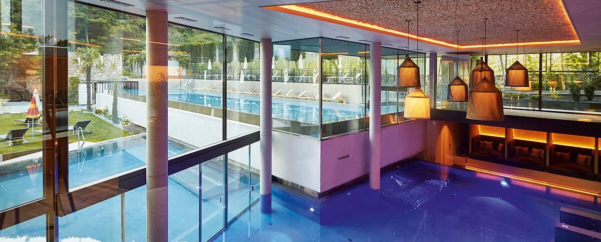Piscina panoramica  Hotel Lindenhof a Naturno  Alto Adige
