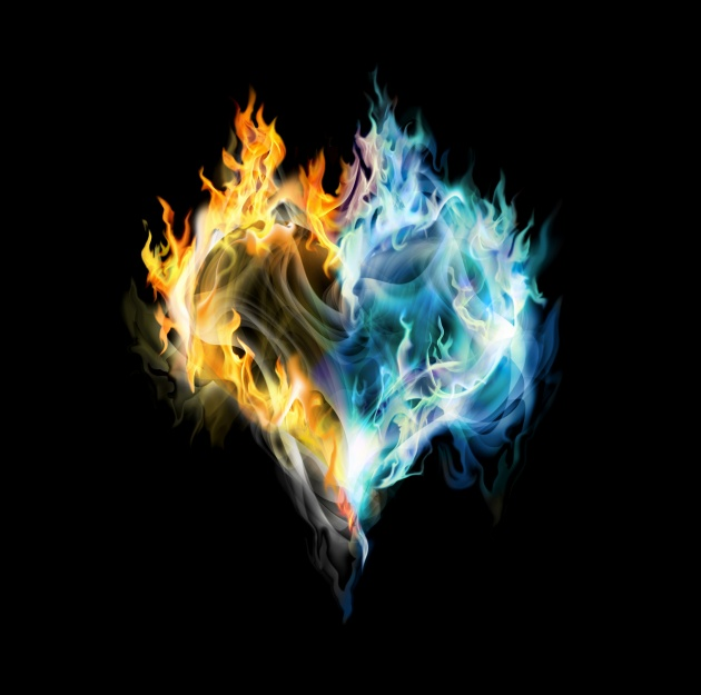 HD flame heartshaped picture download  Free download