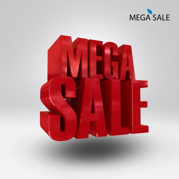 SALE 3D Font Psd Material Free Download