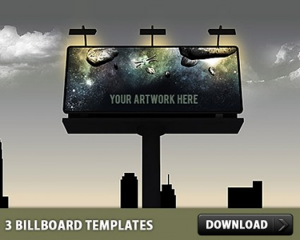 3 Billboard PSD Templates  Free download