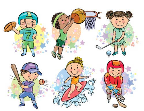 Sports People Cartoon Vector 03 For Free Download | Free Vector