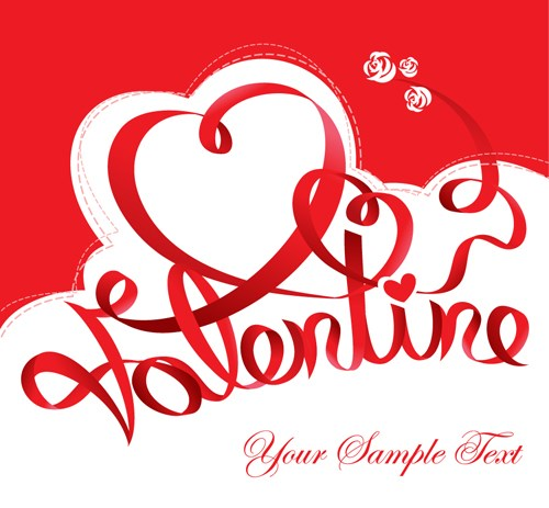 The Valentine Card Design Vector Graphic 02 Free Download