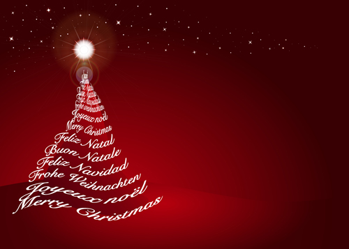 Red Style Christmas Background Art Vector 03 Free Download
