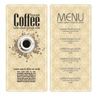 Retro style Coffee menu design 05 vector  Free download