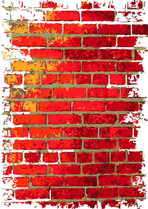 Brick wall Object backgrounds vector graphics 04  Free