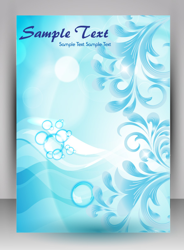 flyer and brochure background vector 04  Free download