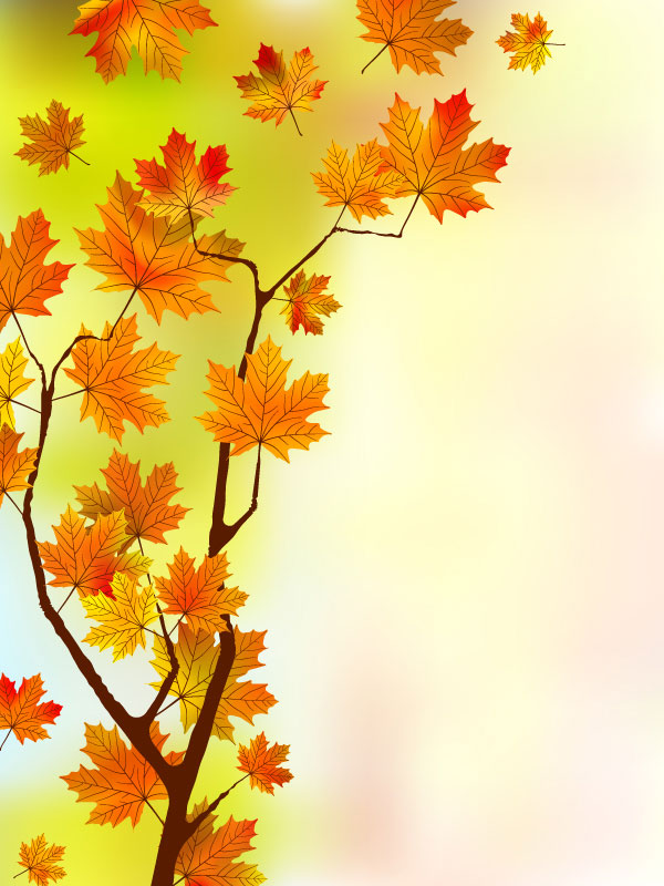 Fall Leaf Pattern Wallpaper Fall Of Maple Leaf Elements Background Vector 04 Free