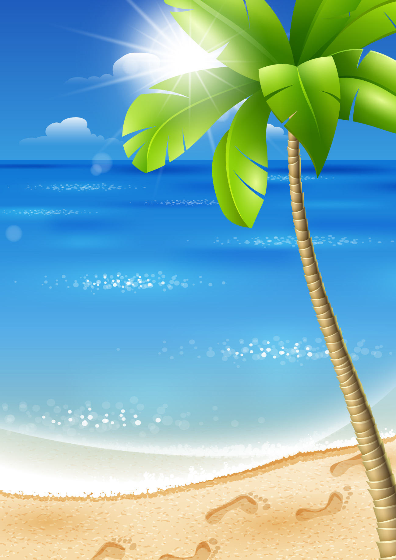 Beautiful Tropical Backgrounds vector 02  Free download