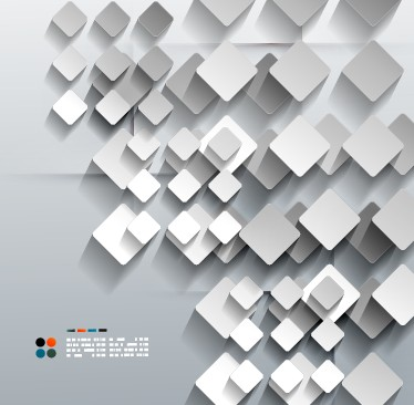 White Geometric shapes vector background 04  Free download