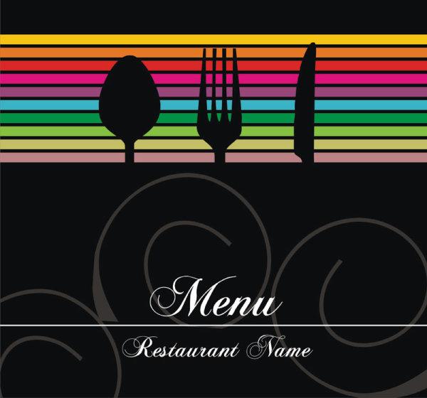 Restaurant menu cover background vector 03  Free download