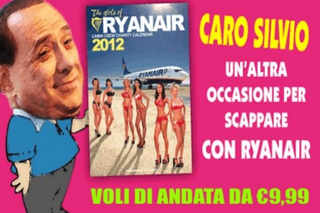 Silvio scappa con Ryanair, altro che resa dei conti!