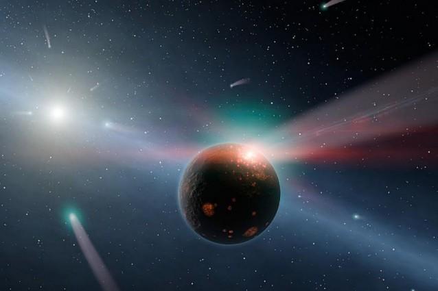 A 60 anni luce dalla Terra, le comete stanno seminando la vita.