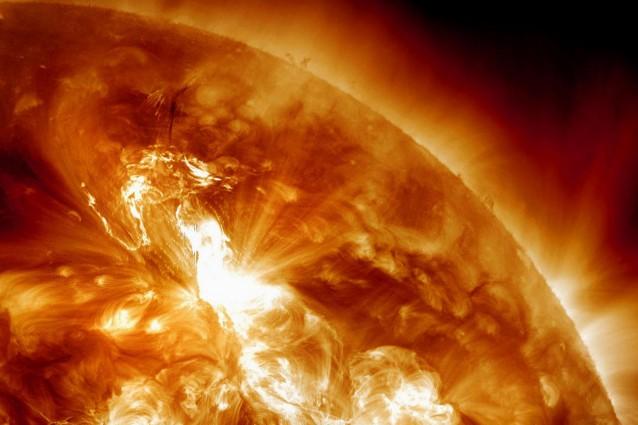 Nei nostri cieli il Sole è in tempesta.