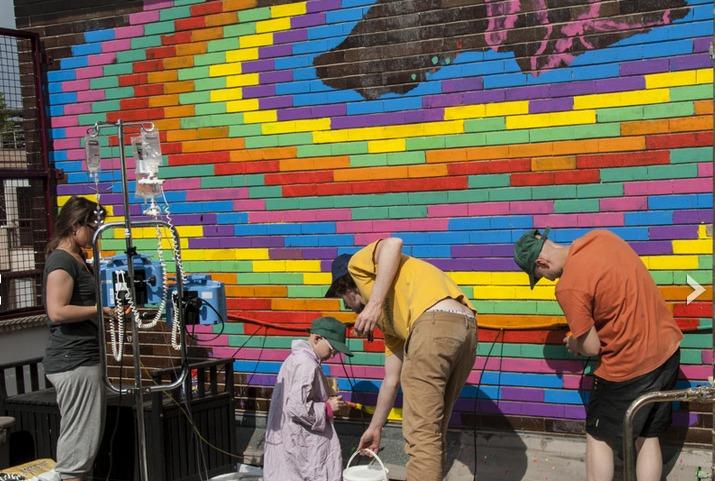 Milano murales in ospedale per i ragazzi malati di cancro