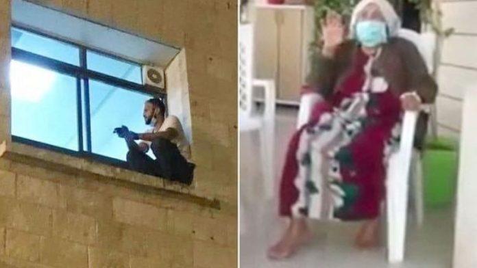 Scala il muro dell'ospedale per dare l'ultimo saluto alla madre morente:  era malata di Covid-19