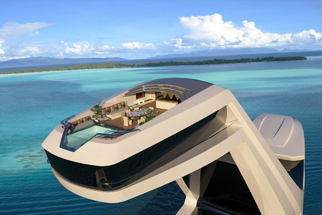 Cabina panoramica e piscina a strapiombo ecco lo yacht