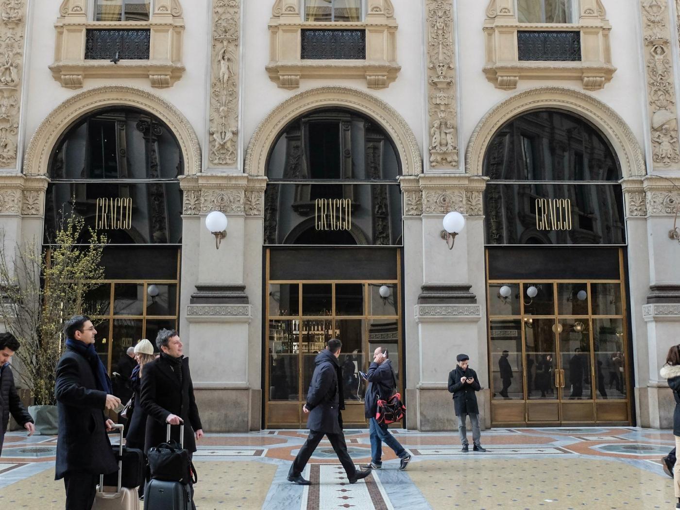 Milano nel ristorante Cracco in Galleria Vittorio Emanuele II