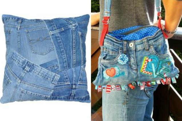 Come riciclare i jeans vecchi alcune idee creative per