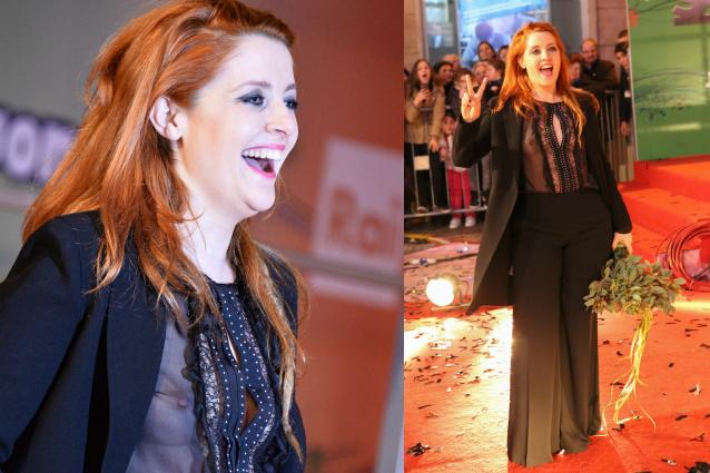 Noemi e il look hot sul red carpet di Sanremo 2016 la cantante mostra il seno FOTO
