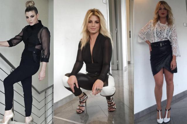 Emma veste in bianco e nero ad Amici 2016 tutti i look della Marrone per il serale