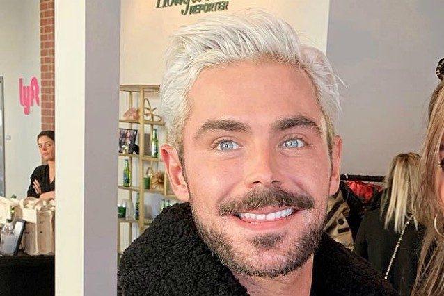 Zac Efron irriconoscibile cambia look e passa ai capelli biondo platino