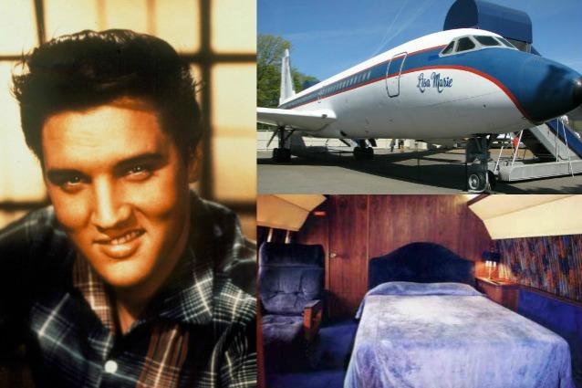 Allasta gli aerei di Elvis Presley due jet con rubinetti doro e camere matrimoniali