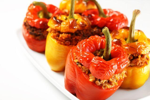 Peperoni ripieni senza carne al forno ricetta di un