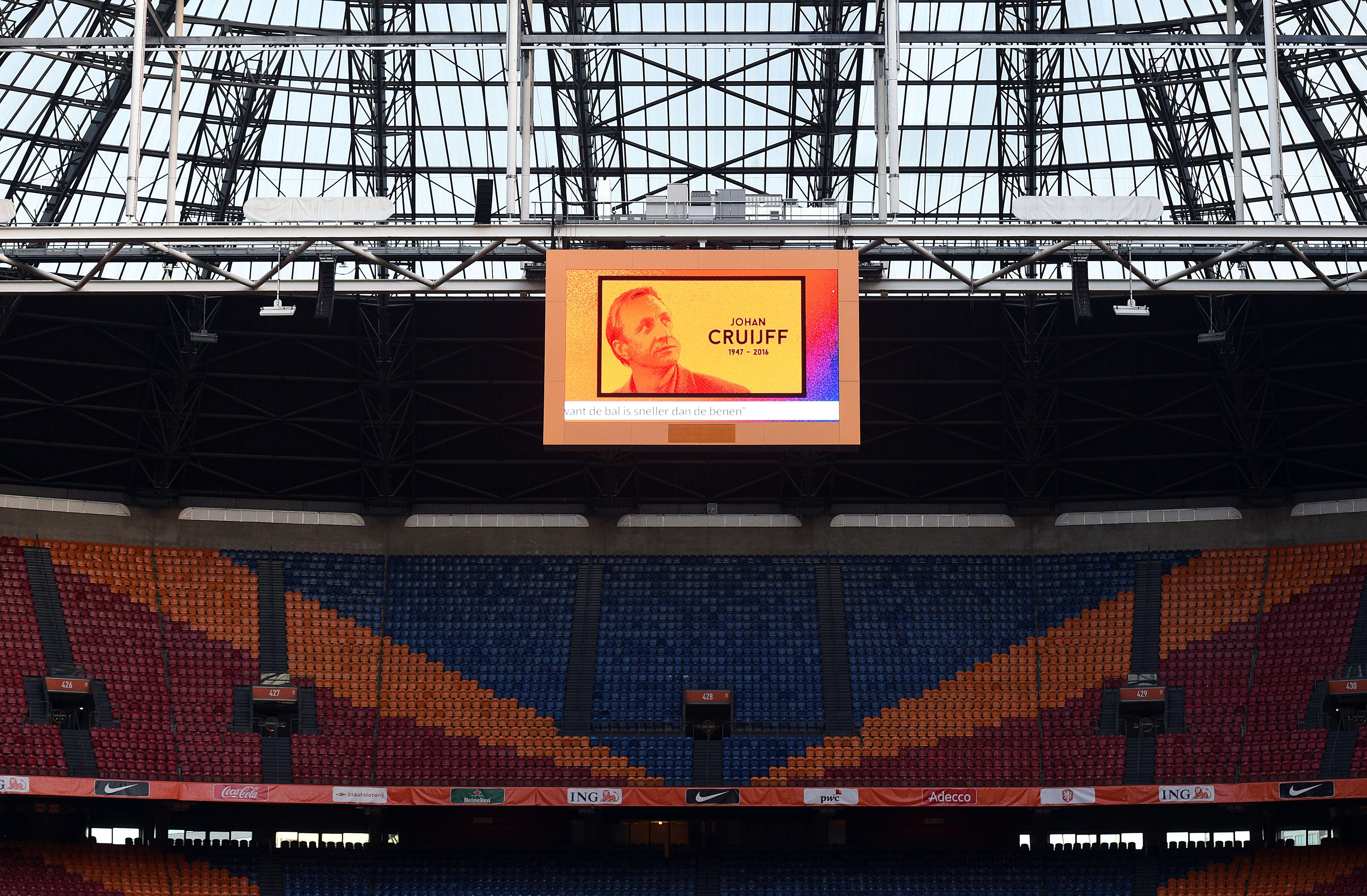 Ajax Amsterdam Arena cambia nome sar Johan Cruijff Stadium