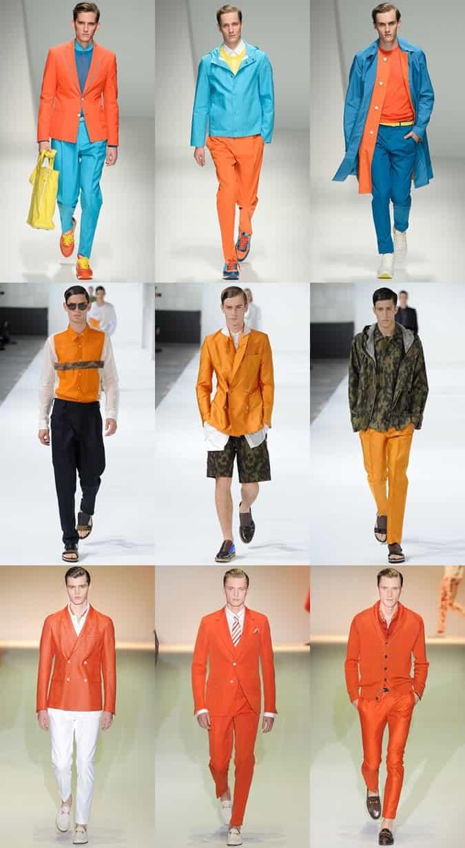 Mens SS13 Colour Trend Orange  FashionBeans