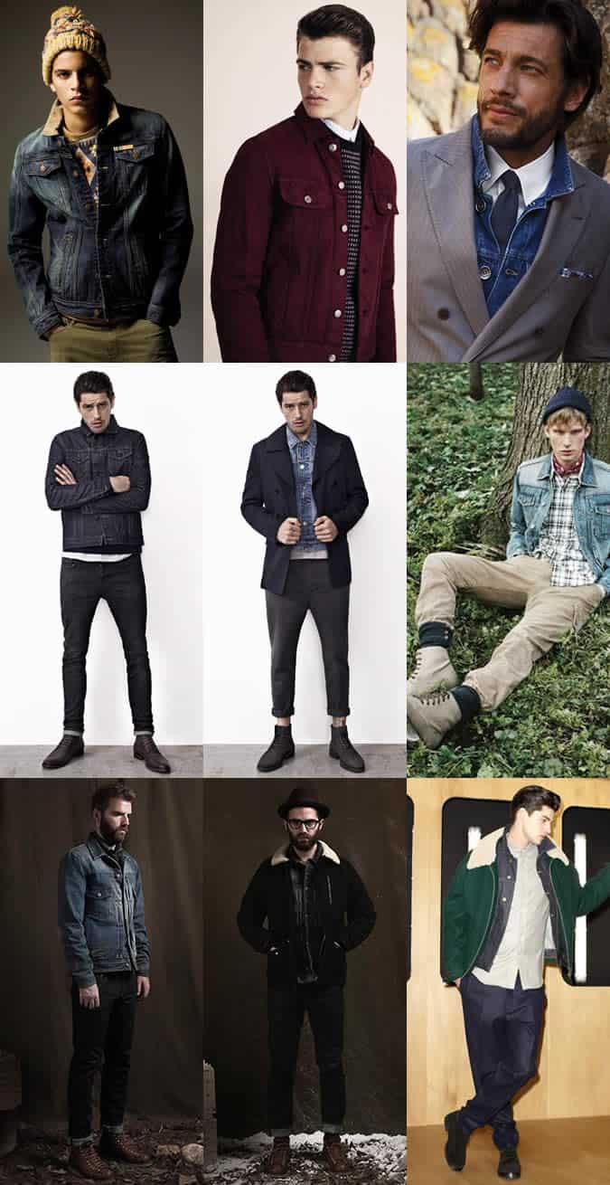 Men's Cold Weather Denim Jacket Lookbook