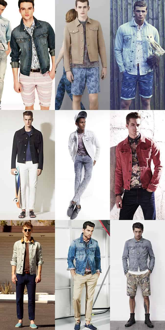 Men's Warm Weather Denim Jacket Lookbook
