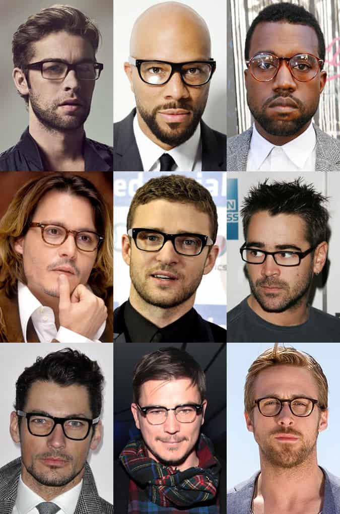 Men's Celebrity Glasses/Spectacles Lookbook