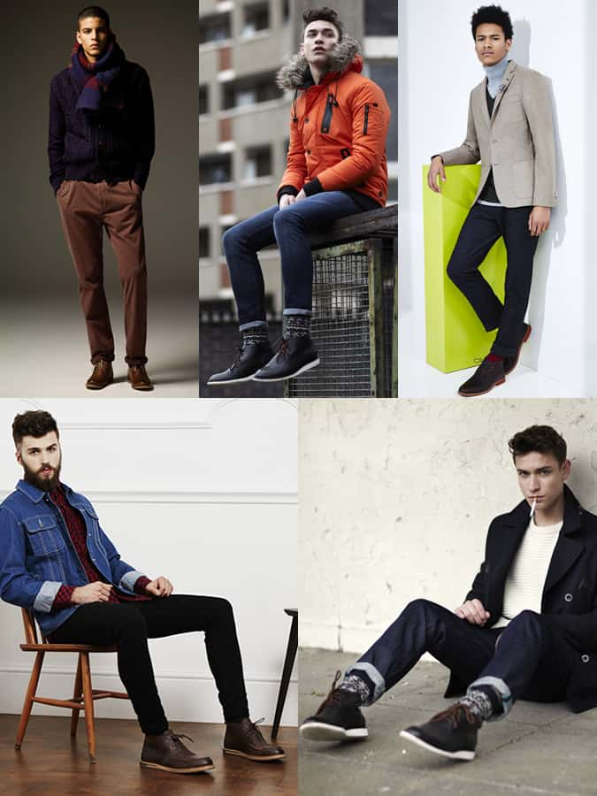 Men's Leather Chukka Boot Outfit Inspiration Lookbook