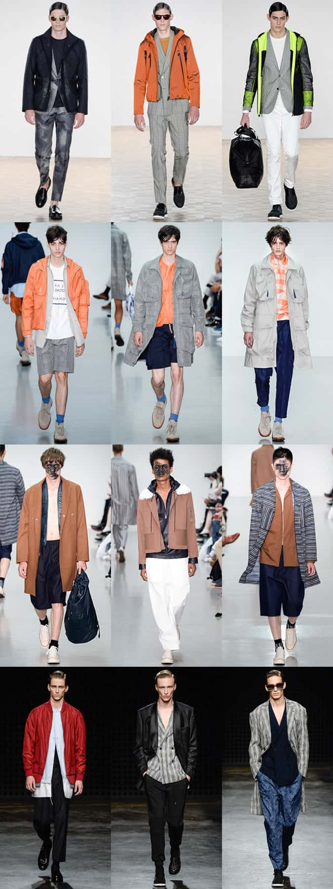 Men's Lightweight Layering on the menswear runways at Hardy Amies, Lou Dalton, Agi & Sam and Casely-Hayford - LC:M SS16