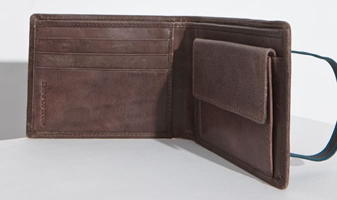 Adolfo Dominguez Billfold Wallet With Coin Pocket
