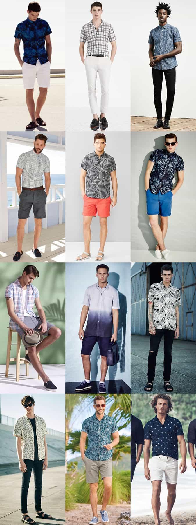 Chemise à manches courtes imprimée pour homme Look Inspiration Lookbook
