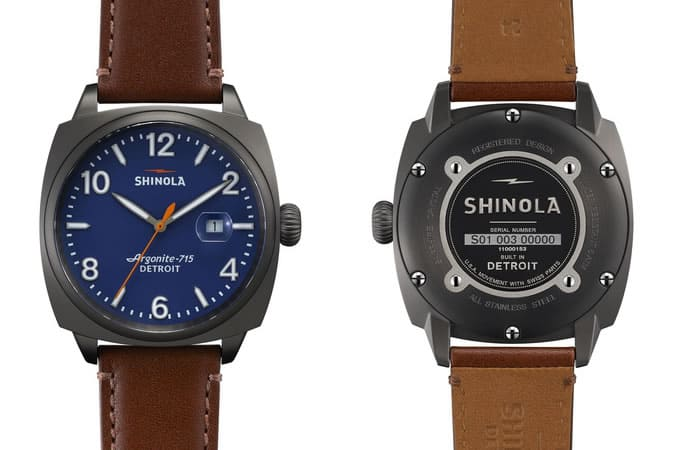 Shinola Brakeman Blue Face With Date