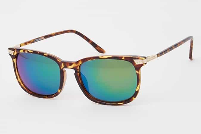 ASOS Wayfarer Sunglasses With Mirrored Lens In Tortoiseshell