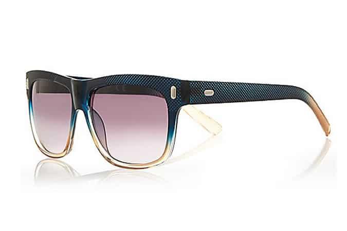 River Island Block Texture Wayfarer Sunglasses