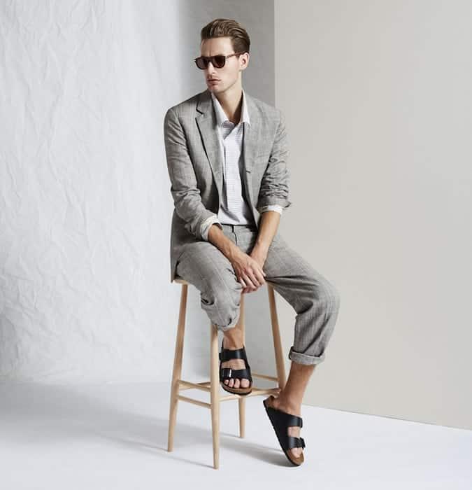 Sandales avec costumes pour hommes Lookbook Inspiration